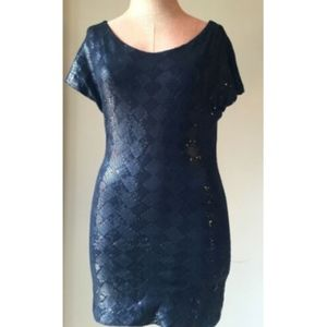 GUESS by Marciano Dress Sequined Pencil Tunic XS